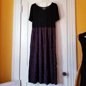 VTG Carole Little Floral Maxi Dress 90s Grunge